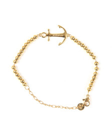 Tom Hope Womens Gold Beaded Saint Bracelet