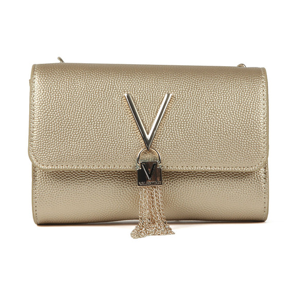 Valentino by Mario Womens Gold Divina Clutch Bag