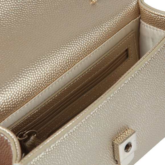 Valentino by Mario Womens Gold Divina Clutch Bag main image