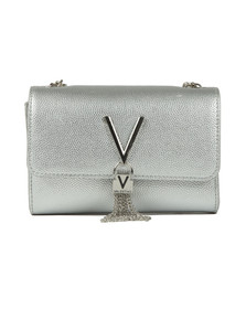 Valentino by Mario Womens Silver Divina Clutch Bag