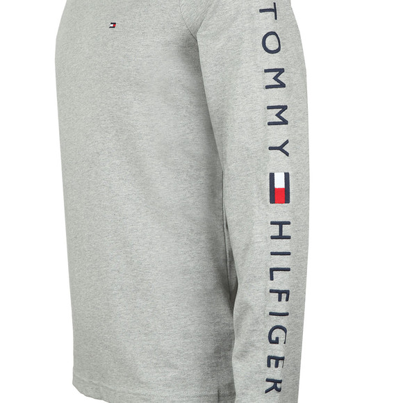Tommy Hilfiger Mens Grey L/S Flag Tee main image