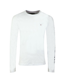 Tommy Hilfiger Mens White L/S Flag Tee