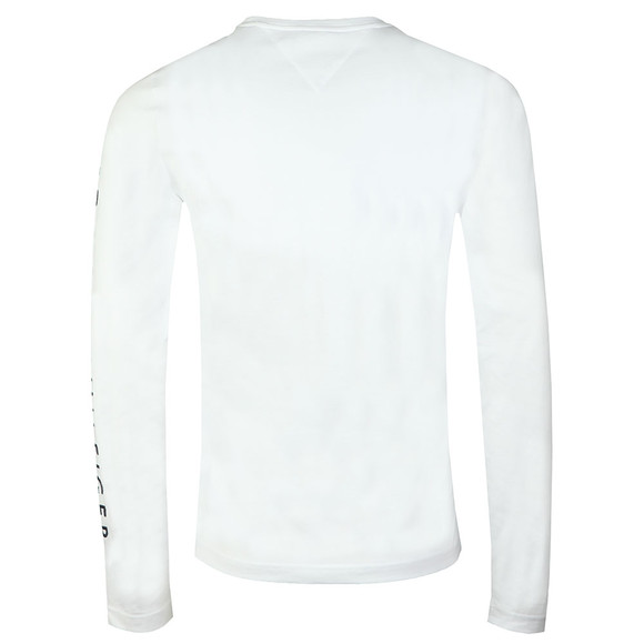 Tommy Hilfiger Mens White L/S Flag T-Shirt main image