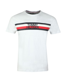 Tommy Hilfiger Mens White S/S Logo Tee