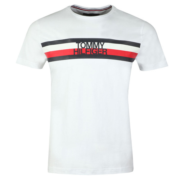 Tommy Hilfiger Mens White S/S Logo Tee main image
