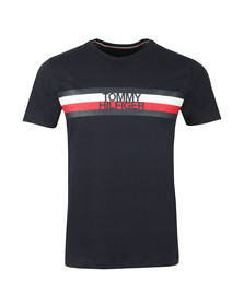 Tommy Hilfiger Mens Blue S/S Logo Tee