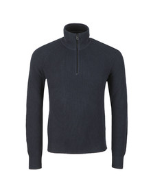 BOSS Mens Blue Casual Karby Half Zip Jumper