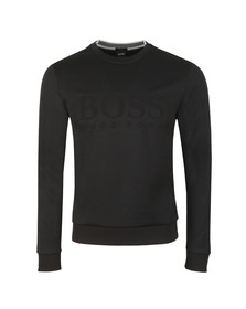BOSS Mens Black Athleisure Salbo Crew Sweatshirt