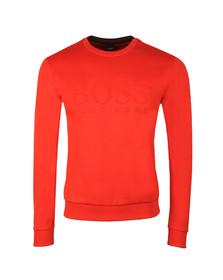 BOSS Mens Orange Athleisure Salbo Crew Sweatshirt