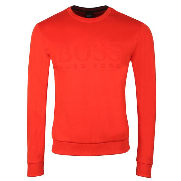 BOSS Mens Orange Athleisure Salbo Crew Sweatshirt main image