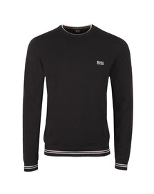 BOSS Mens Black Athleisure Rimex Jumper