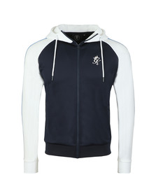 Gym King Mens Blue Tick Tock Full Zip Hoody