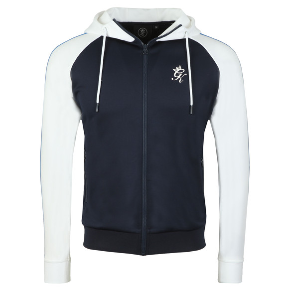 Gym King Mens Blue Tick Tock Full Zip Hoody main image