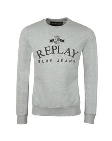 Replay Mens Grey Logo Sweat