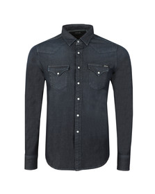 Replay Mens Blue Hyperflex Denim Shirt