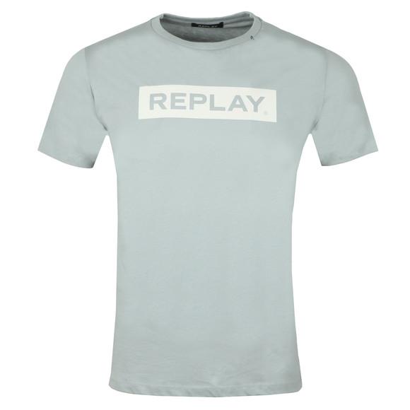 Replay Mens Blue S/S Logo Tee main image