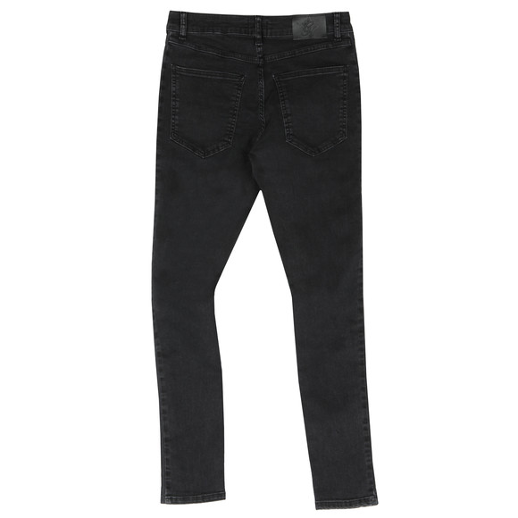 Gym King Mens Black Repair Jean With Stripe main image