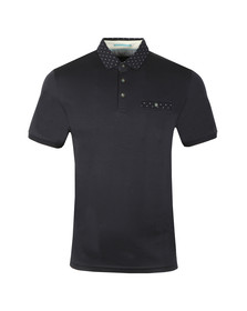 Ted Baker Mens Blue S/S Flat Knit Polo