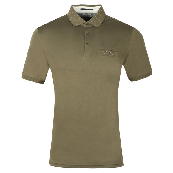 Ted Baker Mens Green S/S Flat Knit Polo main image