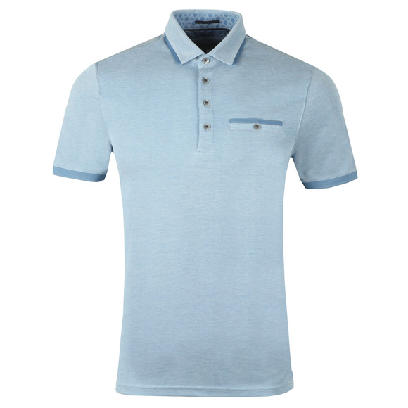 Ted Baker Mens Blue S/S Soft Touch Polo main image