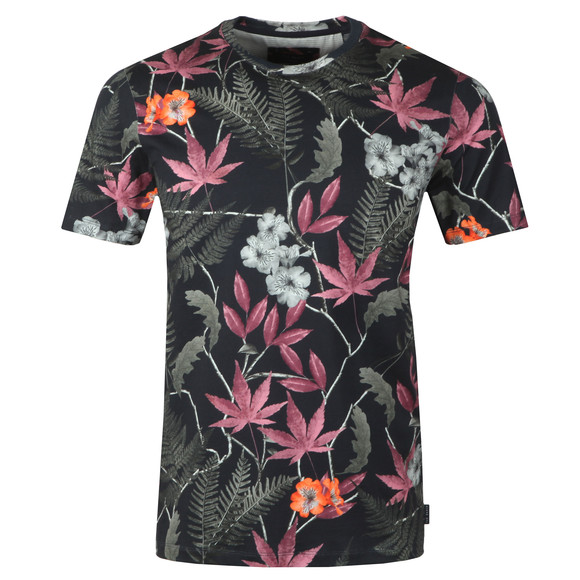 Ted Baker Mens Blue S/S Floral Print Tee main image