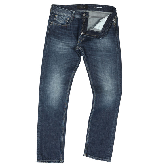 Replay Mens Blue Rob Straight Tapered Jean
