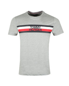 Tommy Hilfiger Mens Grey S/S Logo Tee