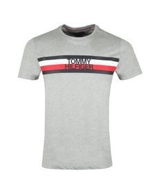 Tommy Hilfiger Mens Grey S/S Logo Tee