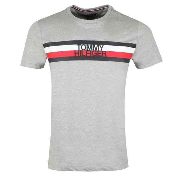 Tommy Hilfiger Mens Grey S/S Logo Tee main image