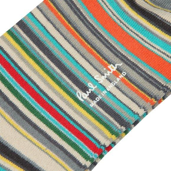 Paul Smith Mens Grey New Classic Multi Stripe Sock