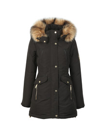 Holland Cooper Womens Black Mountaineer Parka