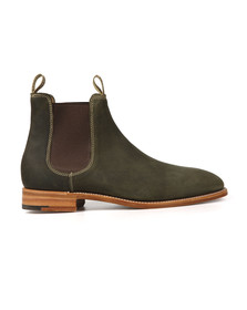 Barker Mens Green Mansfield Waxy Suede Boot