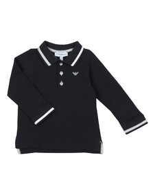 Emporio Armani Baby Boys Blue 6ZHF02 Long Sleeve Polo Shirt