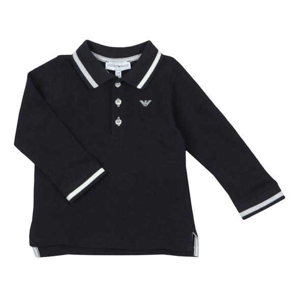 Emporio Armani Baby Boys Blue 6ZHF02 Long Sleeve Polo Shirt main image