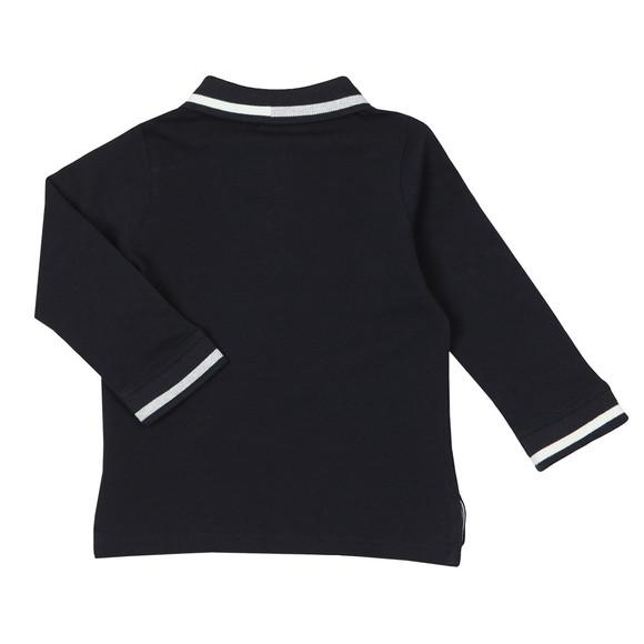 Emporio Armani Boys Blue Baby 6ZHF02 Long Sleeve Polo Shirt main image