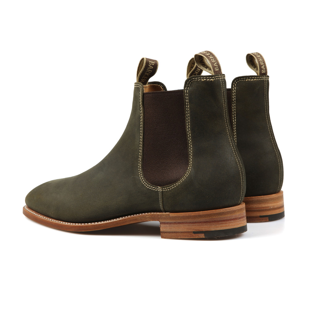 95595c3e0bd Mens Green Mansfield Waxy Suede Boot