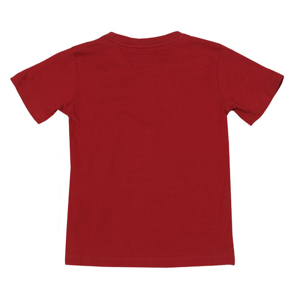 Emporio Armani Boys Red Large Logo T Shirt main image