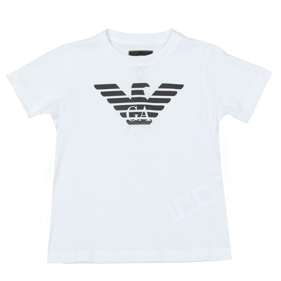 Emporio Armani Boys White Large Logo T Shirt main image