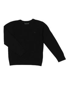 Emporio Armani Boys Black Boys Small Logo Jumper