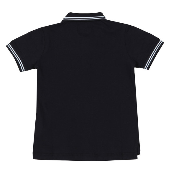 Emporio Armani Boys Blue Tipped Polo Shirt main image