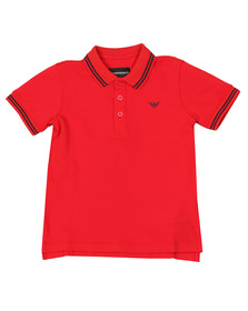 Emporio Armani Boys Multicoloured Tipped Polo Shirt