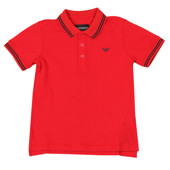 Emporio Armani Boys Multicoloured Tipped Polo Shirt main image