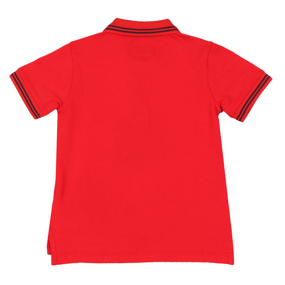 Emporio Armani Boys Red Tipped Polo Shirt