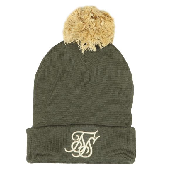 Sik Silk Mens Green Cuff Knit Bobble Hat main image