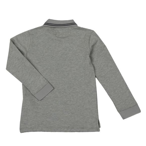 Emporio Armani Boys Grey Long Sleeve Tipped Polo Shirt main image