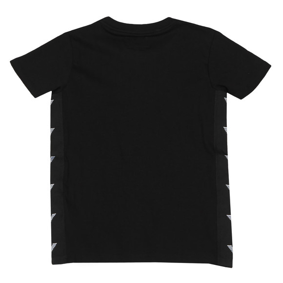 Emporio Armani Boys Black Tape T Shirt