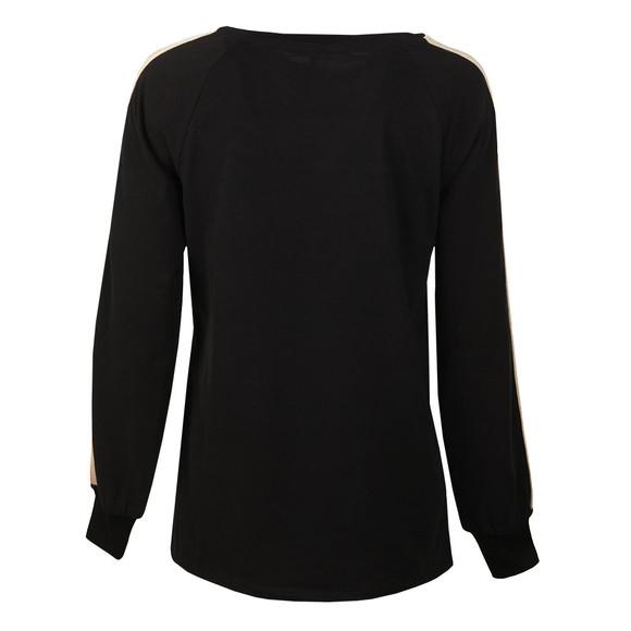Maison Scotch Womens Black Striped Panel T Shirt main image