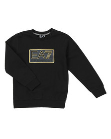 EA7 Emporio Armani Boys Black Large Box Logo Sweatshirt