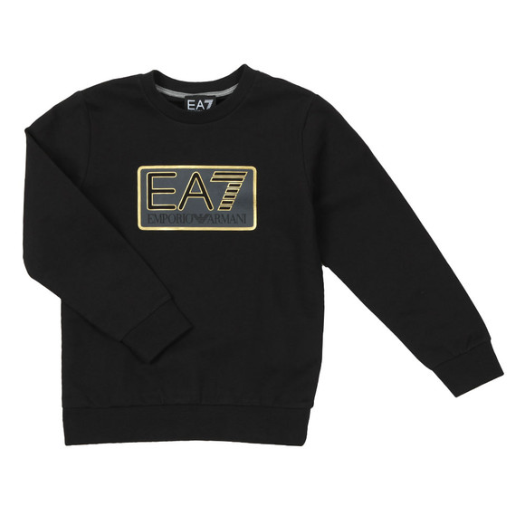 EA7 Emporio Armani Boys Black Large Box Logo Sweatshirt main image