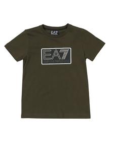 EA7 Emporio Armani Boys Green Boys Box Logo T Shirt